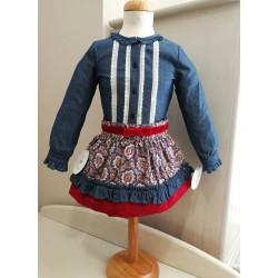 Conjunto camisa y falda