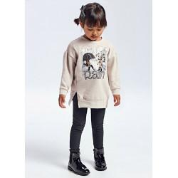 Conjunto niña leggings marengo